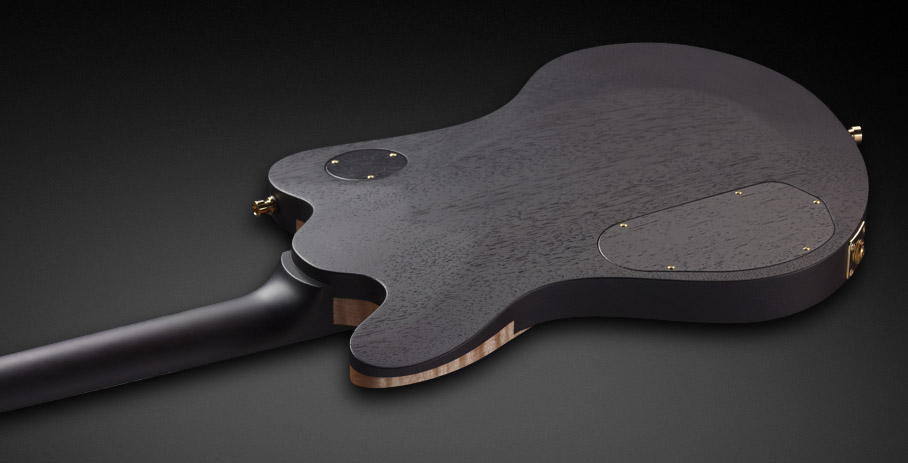 Idolmaker Stevie Salas Signature - Nirvana Black Transparent Satin back and side - Maple neck