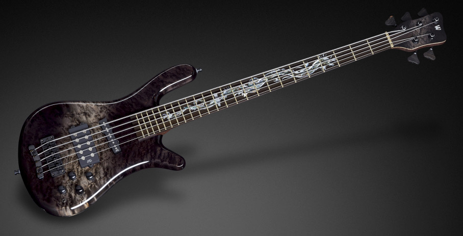 Streamer Jazzman #16-3183 - Special Nirvana Black Bleached Black Burst front and back side of the body