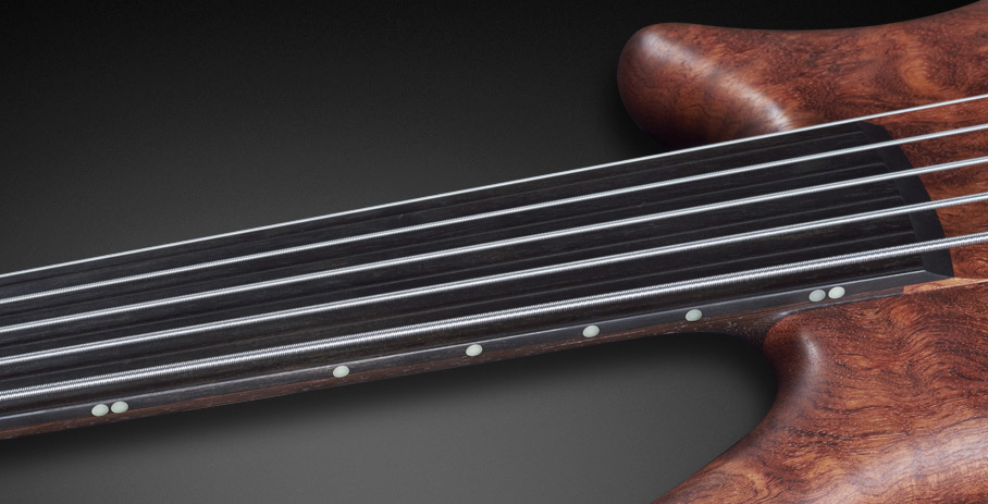 Thumb NT #16-3164 - Tigerstripe Ebony Fingerboard with 5mm Side Markers