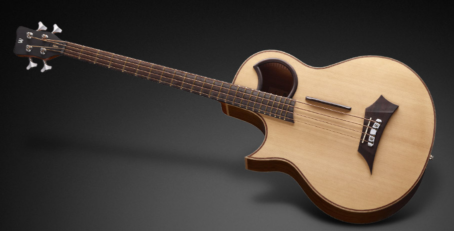 Warwick Alien 4 - Natural Transparent Satin - Lefthand