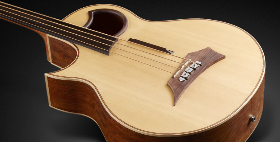 Warwick Alien 4 - Natural Transparent Satin - Lefthand, Fretless