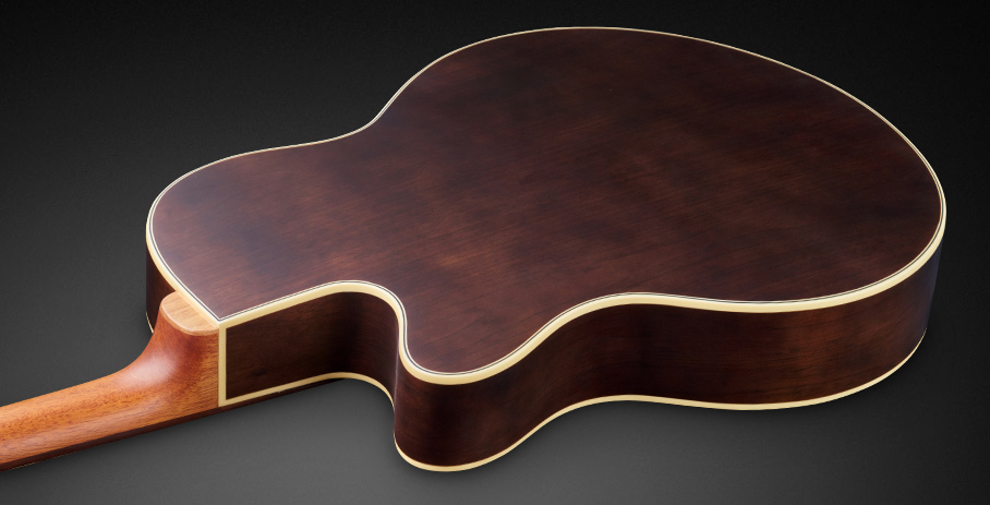 Alien Deluxe Thinline Hybrid 4 - Laminated Walnut back and side